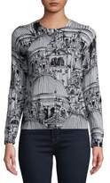 Lord & Taylor Petite Florence-Print Cardigan