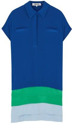 Diane von Furstenberg Hatsu Colour-blocked Silk Shirt Dress