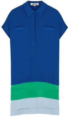 Diane von Furstenberg Hatsu colour-blocked silk shirt dress