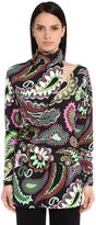 Emilio Pucci High Collar Printed Shirt
