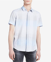 Calvin Klein Men's Relaxed-Fit Covered-Placket Shirt