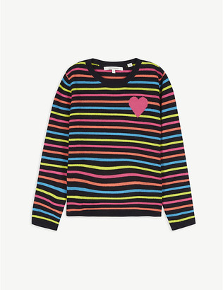 Chinti and Parker Striped cashmere jumper 2-16 years