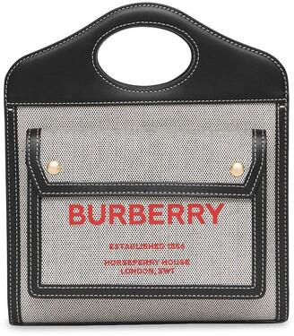 Burberry mini Pocket two-tone tote bag