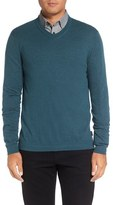 Ted Baker Men's 'Cashguy' Trim Fit V-Neck Sweater
