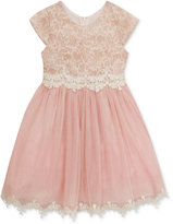 Rare Editions Sparkle Lace Special Occasion Dress, Little Girls (4-6X)