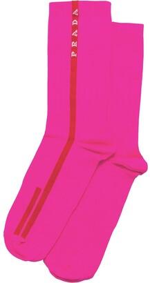 Prada Intarsia Knitted Socks
