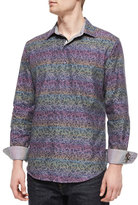 Robert Graham Loch Ness Printed Sport Shirt, Multicolor