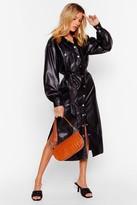 Nasty GalNasty Gal Womens Another Won't Shirt Faux Leather Midi Dress - black - 8, Black
