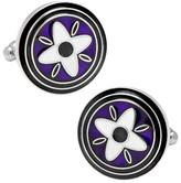 Cufflinks Inc. Men's Purple and Black Twilight Star Cufflinks