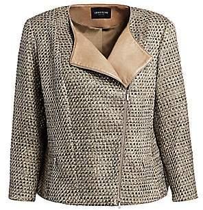 Lafayette 148 New York Lafayette 148 New York, Plus Size Women's Trista Silk & Leather Jacket