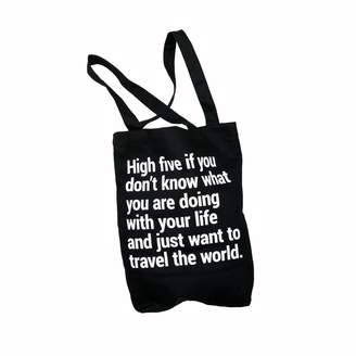 """Bold Tuesday Travel Tote Bag """"High Five"""" With A Pocket & Lanyard"""