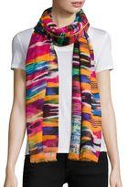 Bindya Multicolor Ikat-Print Scarf