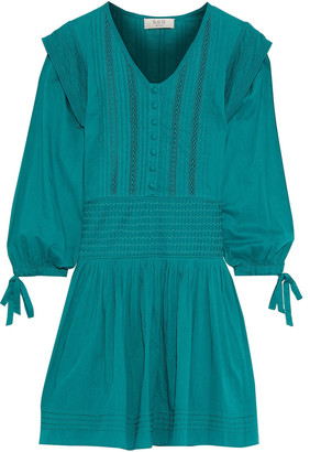 Sea Hemmingway Pleated Cotton-poplin Mini Dress