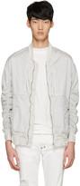 Diet Butcher Slim Skin White Garment-dyed Fight Jacket