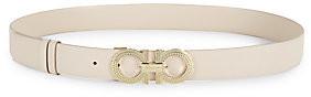 Salvatore Ferragamo Women's Hemispheres Gancini Buckle Reversible Leather Belt