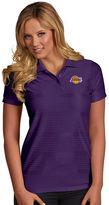 Antigua Women's Los Angeles Lakers Illusion Polo