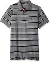 U.S. Polo Assn. Men's Short Sleeve Balanced Stripe Pique Shirt