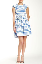 Betsey Johnson Cap Sleeve Tie Waist Dress
