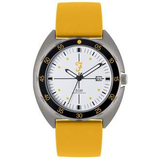 Farah Unisex Adult Analogue Classic Quartz Watch with Silicone Strap FAR2018
