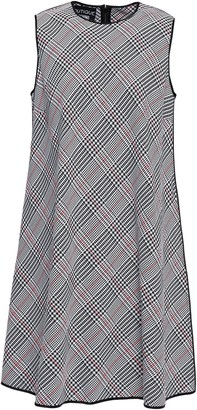 Boutique Moschino Neon-trimmed Checked Jacquard Dress