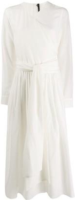 Sara Lanzi Wrap-Style Maxi Dress