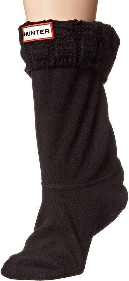 Thumbnail for your product : Hunter Women's Original Short 6 Stitch Cable Wellington Boot Sock-Black-Medium (UK 3-5)