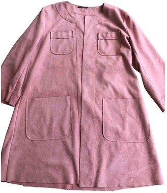Non Signé / Unsigned Non Signe / Unsigned Pink Suede Coat for Women