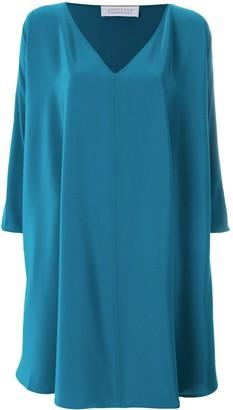Gianluca Capannolo Oversized Side Ruffle Dress