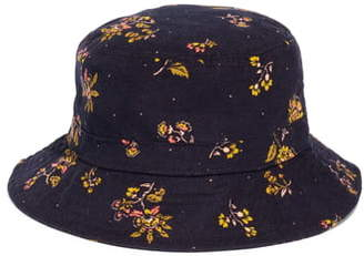 Madewell Forest Floral Short Brimmed Corduroy Bucket Hat