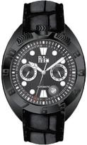 Reign Ronan Collection Men's Automatic Leather and Stainless Steel Watch