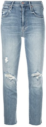 Mother Distressed Skinny Jeans