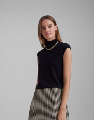 Club Monaco Cashmere Sleeveless Mockneck Sweater
