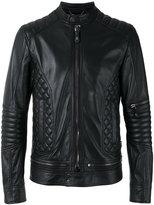 Philipp Plein quilted panel biker jacket