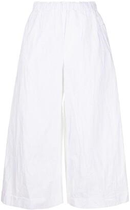 Daniela Gregis Cropped Crinkle Palazzo Trousers