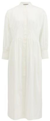 Three Graces London Peppa Mandarin-collar Cotton-poplin Shirt Dress - White