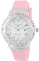 Swiss Legend Women's 20032D-02-LPK South Beach Dial Diamond Accented Light Pink Silicone Watch