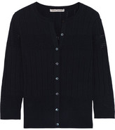 Autumn Cashmere Ribbed And Pointelle-Knit Cardigan