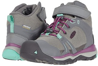 KEEN Kids Terradora II Mid WP (Toddler/Little Kid) (Steel Grey/Beveled Glass) Girl's Shoes