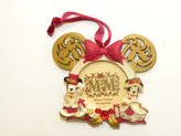 Disney Park Victorian Jeweled Picture Frame Christmas Ornament Couple Minnie Mickey