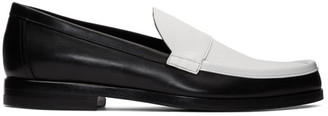 Pierre Hardy Black and White Hardy Loafers