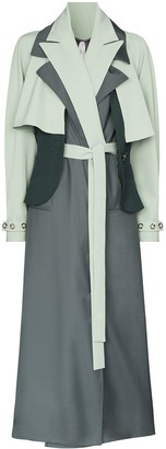 Marta Jakubowski Daisy layered trench coat