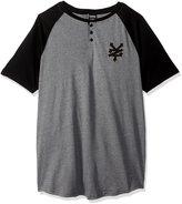 Zoo York Men's Short Sleeve Sidewinder V Neck Knit Shirt