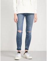 Good American Good Legs Release Hem skinny high-rise jeans