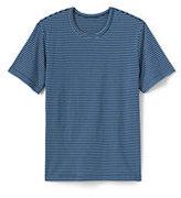 Lands' End Men's Stripe Jersey Tee-Dark Cerulean Feeder Stripe