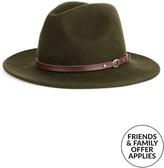 Christy CHRISTYS' Crushable Wool Felt Safari Hat With Leather Belt