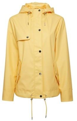 Dorothy Perkins Womens Yellow Short Raincoat, Yellow
