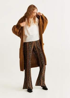 MANGO Pocket long cardigan medium brown - XS - Women