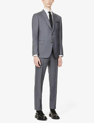 Pal Zileri Brera padded-shoulder wool suit