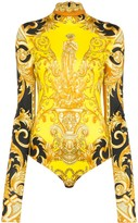 Versace Baroque print fitted bodysuit