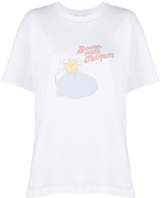Jacquemus embroidered-logo T-shirt
